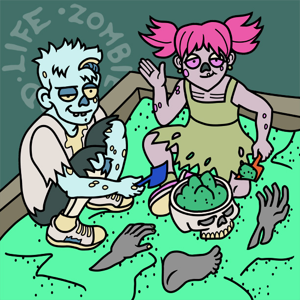 Two Zombies, One Sandbox