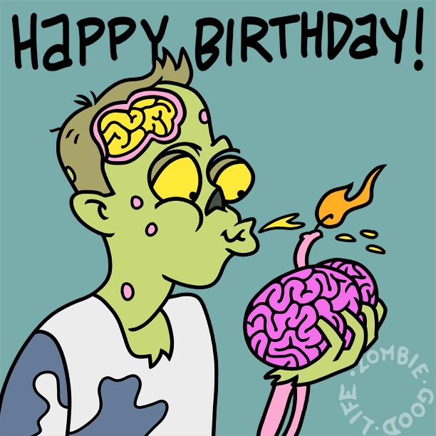 Brain-filled Wishes And A Happy Zombie Birthday!